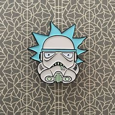 "1,137 Likes, 10 Comments - JusticeMerch  (@justicemercher) on Instagram: ""from @getalifedesigns -  Rick Stormtrooper pin available at their store (link in their bio)…"""
