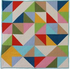 Abstract modern baby quilt multi from Bunch  Rosa
