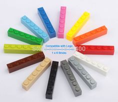 Learning Education Kids Toys Plastic Building Blocks Bricks Parts 1x6 DIY Assembling Toys Compatible With Lego 8300pcs/lot