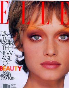 amber valletta 1993 elle us Fashion Magazine Cover, Fashion Cover, Magazine Covers, Beauty Photography, Fashion Photography, Amber Valletta, New Hair Do, 90s Makeup, Elle Us
