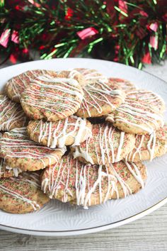 Christmas Confetti Cookies are a fun holiday treat that's a must make for your Christmas cookie plates!