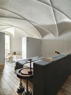 Edoardo Milesi transforms a medieval monastery into a modern family home. Photo by Ezio Manciucca.