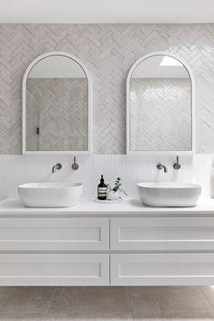 Burraneer — www.thestables.com.au Bathroom Renos, Laundry In Bathroom, Bathroom Renovations, Laundry Chute, Beach House Bathroom, Master Bathroom, Hamptons Style Homes, Hamptons House, Hamptons Bedroom