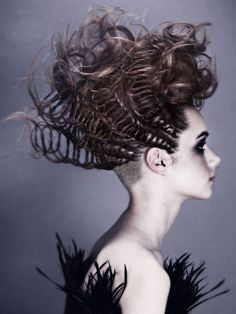 Artistic hairstyle