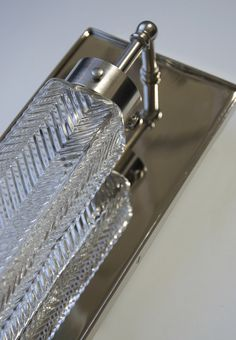 Art Deco Chrysler Sconce in polished nickel