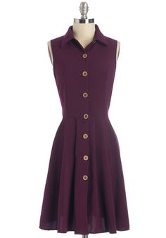 Swing Vote Dress in Acai - Modcloth $69.99.