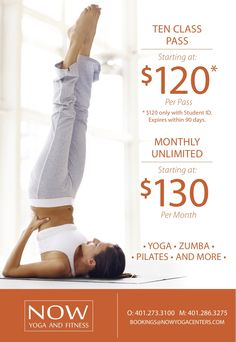 10 Class Pass for students is only $120!  (must show student ID) #yoga #fitness #rhodeisland