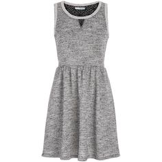 maurices Dress In French Terry Fabric ($34) ❤ liked on Polyvore featuring dresses, grey, french terry dress, gray dress, maurices, maurices dresses and grey dress