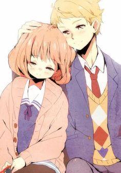 kyoukai no kanata mirai and akihito kiss - Google Search