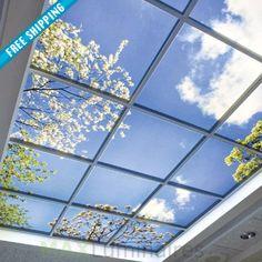 LED Virtual Mood Skylight LED Panel LED wall light panel #150-200 #all-commercial-led #led-panel-light