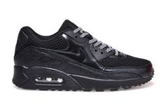 3f1e5e1a99db5 Nike Air Max 90 Womenss Shoes Hot New All Black Gray Inexpensive Mujeres  Nike