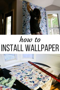 Recently, I lost my mind and decided to hang wallpaper in our dining nook. Today, I'm going to show you how to install wallpaper if you want to try it in your own home. How To Install Wallpaper, Diy Wallpaper, Anthropologie Wallpaper, Entry Hallway, Simple Wallpapers, Dining Nook, Easy Projects, Wallpaper Installation, Diy Home Decor