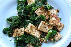 pistachio encrusted tofu + kale