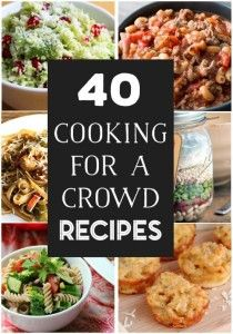 Throwing a party or need to bring a dish to a large gathering? If you have to fill a bunch of hungry bellies with delicious food, check out these 40 cooking for a crowd recipes. Here are recipes for breakfast, entrees, side dishes, and desserts that are sure to earn rave reviews.