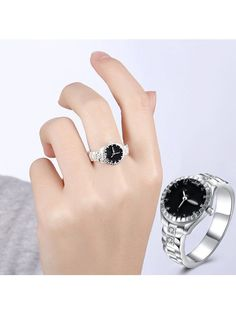[Visit to Buy] Diomedes Fashion Women Men Dial Quartz Analog Watch Diomedes Steel Cool Alloy Finger Ring Watch Casual Rings Quartz Ring, Quartz Watch, Diamond Quartz, Ring Clock, Wedding Finger, Casual Rings, Ring Watch, Fashion Watches, Women's Watches