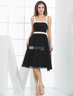 Black Empire Waist A-line Sash Satin Bridesmaid Dress. A-line and empire silhouette bridesmaid dress,made of chiffon,sash decoration.. See More Bridesmaid Dresses at http://www.ourgreatshop.com/Bridesmaid-Dresses-C926.aspx