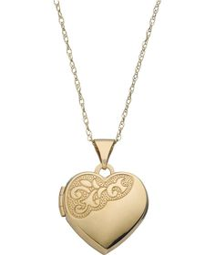 Buy 9ct Gold Heart Locket Pendant at Argos.co.uk - Your Online Shop for Ladies' necklaces.