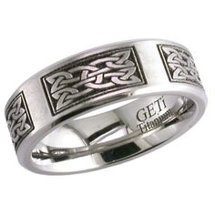 Titanium Rings - Celtic Patterned Titanium Ring