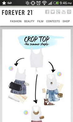 Crop top #SummerForever #F21xMe