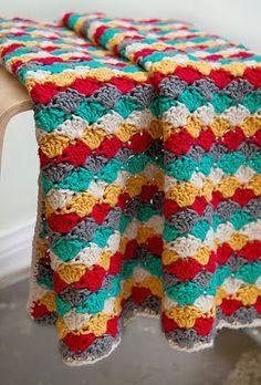 free crochet pattern classic shell blanket