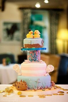 What a unique cake! 'Rubber Duckie' Cake from Cirencester Cupcakes.