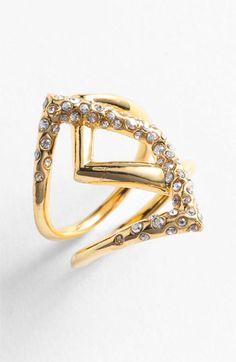 Alexis Bittar 'Miss Havisham - New Wave' Overlap Ring