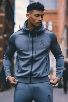 Poly Tracksuit Top - Steel/Black - Tap the pin if you love super heroes too! Cause guess what? you will LOVE these super hero fitness shirts!