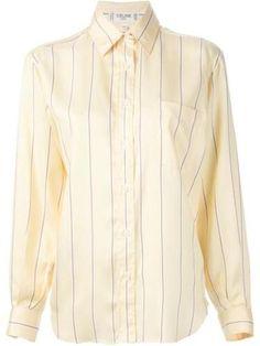 CELINE VINTAGE striped shirt #stripedshirt #celine #offduty #covetme #celinevintage