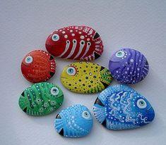 Rock Painting Fish Ideas