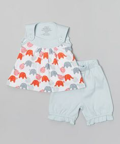 Look at this #zulilyfind! Red Elephant Organic Swing Top & Blue Shorts - Infant & Toddler #zulilyfinds