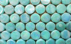 Hey, I found this really awesome Etsy listing at https://www.etsy.com/listing/180280980/aquamarine-penny-round-iridescent-glass