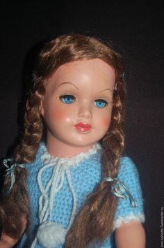 Винтажные куклы и игрушки. Ярмарка Мастеров - ручная работа. Купить Винтажная куколка E.S. БРОНЬ!. Handmade. Голубой, тортулон