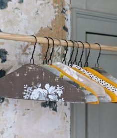 wallpaper covered wire coat hangers