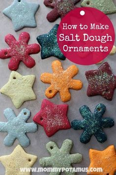 How To Make Salt Dough Ornaments - Fun, easy and makes a great keepsake! #homemadeornaments #holidaycrafts #saltdoughornaments