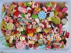 Size: 10-25mm Mix Cute Food, Resin Cabochon for Phone Deco, Resin Crafts