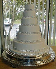 perfect! rhinestone top cake