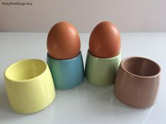 Your place to buy and sell all things handmade Blue Cups, Egg Cups, Vw Camper, Easter Gift, 1960s, I Shop, Eggs, Breakfast, Gifts