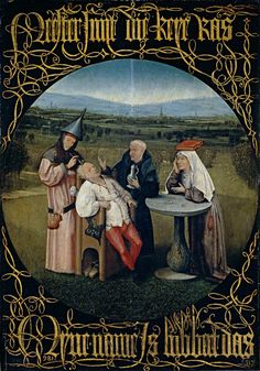 """""""Extracción de la piedra de la locura"""" - Hieronymus Bosch (El Bosco)"""