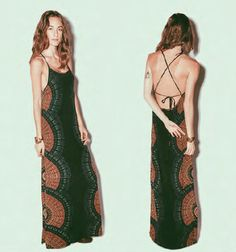 Strappy Open Back Printed Maxi Dress by Cleobella - Souvenir® - 3