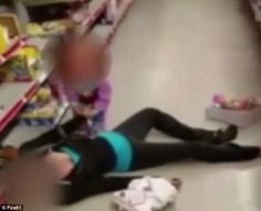 WARNING GRAPHIC CONTENT: The clip showing the mother and daughter was taken at a Family Dollar store in Lawrence, Massachusetts, in the toy aisle.