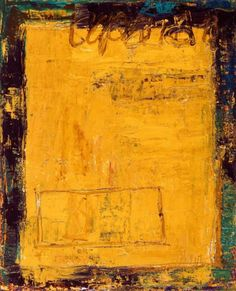 São Mamede - Galeria de Arte  Gonzalez Bravo Sem Titulo 162) 18 2015 Óleo x Tela 100 cm x 81 cm Abstract Paintings, Contemporary Paintings, Abstract Art, Yellow Things, 81, Earth Tones, Mixed Media Art, Art Gallery, Painting Abstract