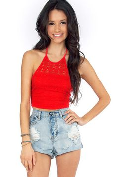 Crissy Crochet Top $22 at www.tobi.com    perfect for the summer