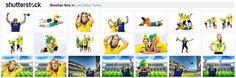 Imagens de torcida brasileira Royalty-Free para copa do mundo