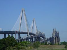 Charleston/ Mt. Pleasant, SC:   Silas N. Pearlman Bridge and Grace Memorial bridge, next to the new Cooper River Bridge.