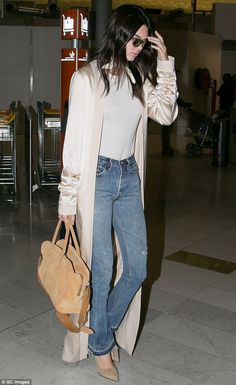 e1eade50166a Chic  Kendall Jenner was uitably stylish as she was seen jetting out of  Charles De
