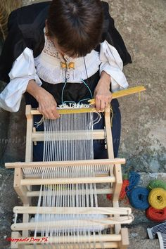 A Sardinian woman weaving on her traditional loom. #ThisIsSardinia #SardiaWeaving  Autunno in Barbagia 2014 a Oliena - Pierpaolo Dore Photographer