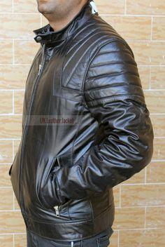 NOA Handmade Soft Goatskin Men Black Leather Jacket  #Leather Jacket; #Men Leather Jacket; #Biker Leather Jacket; #Fashion; #Motorcycle Leather Jacket; #Handmade; Uk; Usa; Canada;