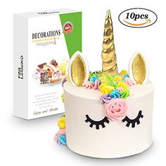 3D Gold Unicorn Cake Toppers with Eyelashes,Horn and Ears,Unicorn Party Supplies for Girls Boys Birthday Party,Wedding,Baby Shower by FZR Legend (10 pcs) - http://partysuppliesanddecorations.com/3d-gold-unicorn-cake-toppers-with-eyelasheshorn-and-earsunicorn-party-supplies-for-girls-boys-birthday-partyweddingbaby-shower-by-fzr-legend-10-pcs.html