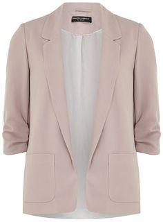 Pink soft longline blazer