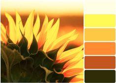 Sunflower inspired color palette for the bathroom